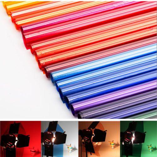 colors lighting filter gel sheets 15x19