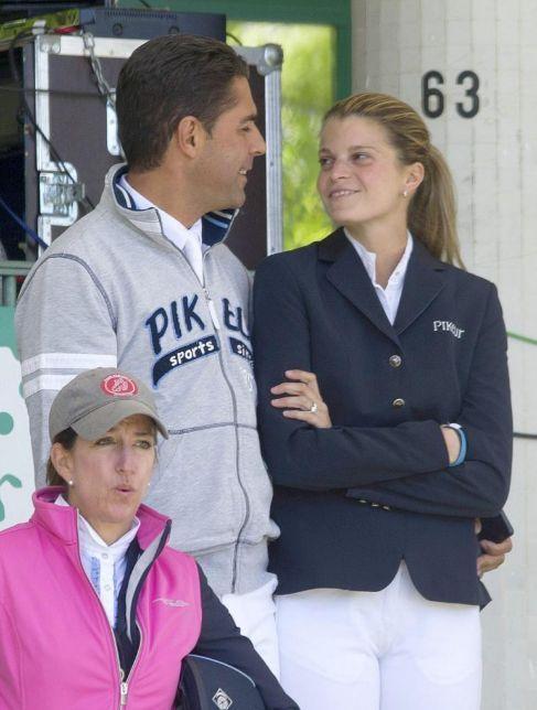 Athina y su marido Doda, durante una competición hípica en Madrid.