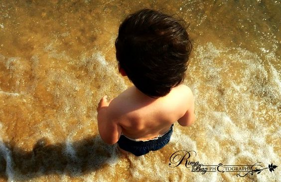 Staring out into a seemingly endless sea for the first time. Feeling the waves crash on his feet and enjoying this moment of pure bliss. These are the priceless childhood moments that need to be captured forever in our hearts. - Rima Baz