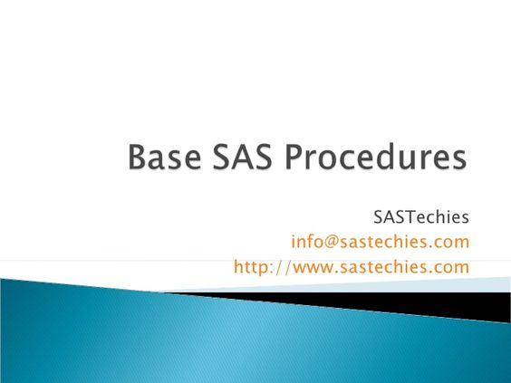 SAS procedures