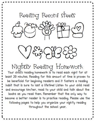 for the whole year!: Reading Logs For Kindergarten, Reading Sheet, Classroom Reading, Kindergarten Reading Logs, Reading Incentive, Classroom Ideas