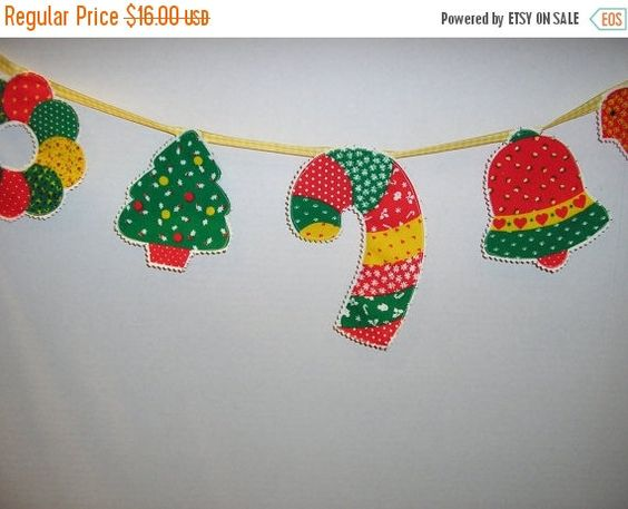 50% OFF SALE Christmas Banner Bunting Swag Garland by MakeMeOver