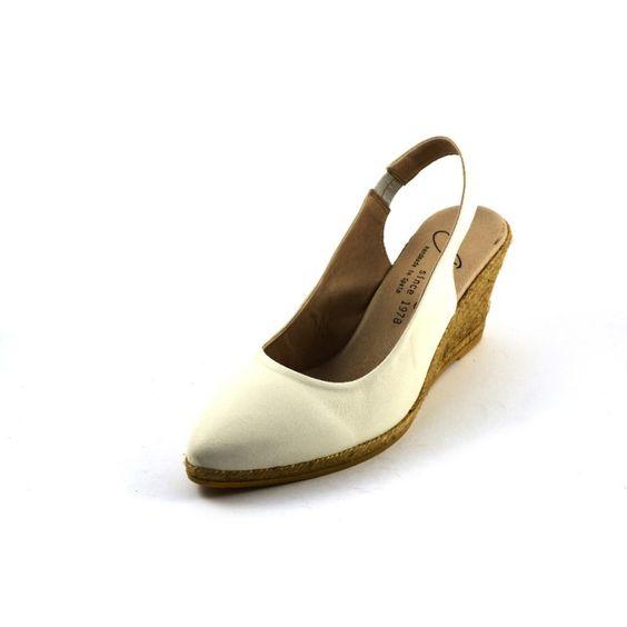 GAIMO Espadrilles Touluse White Leather   SPANISH SHOP ONLINE