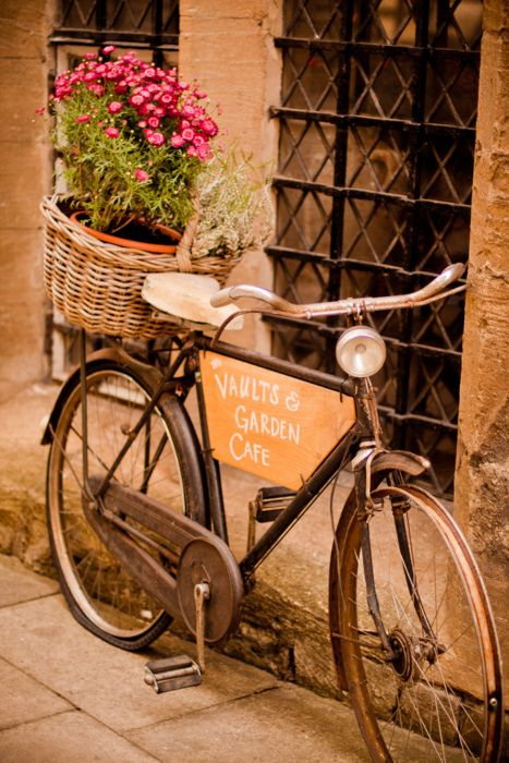 I would bicycle to this French cafe any day.