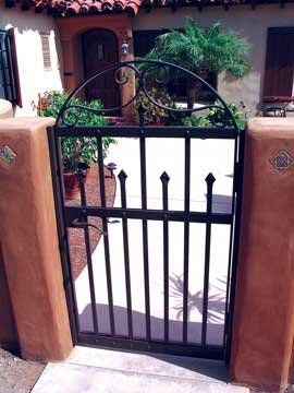 Spanish Colonial Entry Gate, hand-forged iron by David Browne Metal Design  www.sexyskin.ca