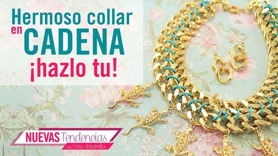 Kit. 23173 Como hacer un lindo collar con cadena dorada con Caro Jaramil...