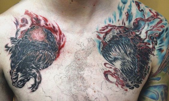 Spiderman Villains Chest Tattoo by seanspoison.deviantart.com on @deviantART