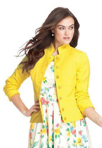 Jessica London Plus Size Linen-Blend Blazer