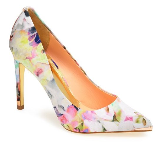 Floral accessories: Ted baker pumps. Wow!
