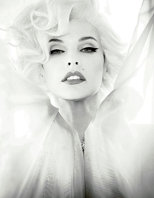 Milla Jovovich as Marilyn Monroe by Ellen von Unwerth for Madame Figaro May 14, 2012