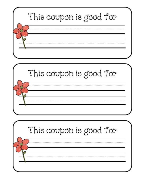 coupon making template - mother 39 s day coupon and mothers on pinterest