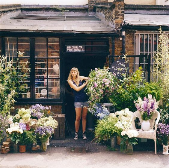 Hattie Fox, owner of That Flower Shop / photo by Tina Hillier #mathilde 2CParis #mathilde 2C #shop