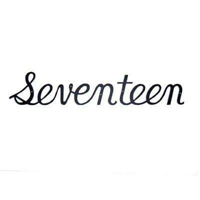 "Script House  Number Number: Seventeen, Size: 3.13"" H x 18"" W x 7.5"" D by Montague Metal Products Inc.. $37.00. SHN-17sm Number: Seventeen, Size: 3.13"" H x 18"" W x 7.5"" D Features: -Script house number.-Cast in rust free aluminum.-Made in the USA. Color/Finish: -Satin black finish.:"