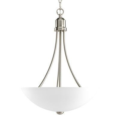 Lamp above the dining table. Curves to match the lamp above the kitchen.