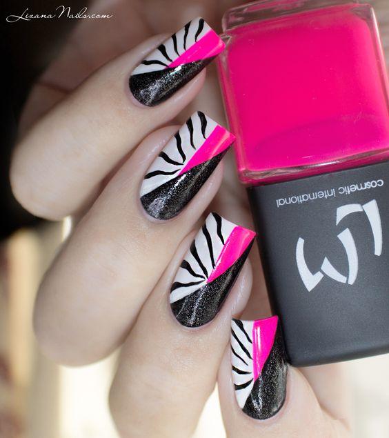 Nail Art Twin Eternail - Pink Zebra