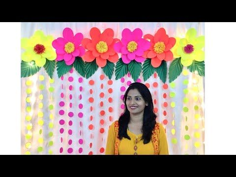 Easy Birthday Decoration Ideas At Home Easy Paper Flowers