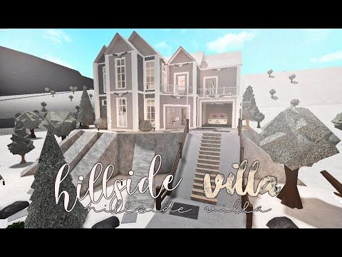 Bloxburg Hillside Villa 50k No Advanced Placing Youtube In