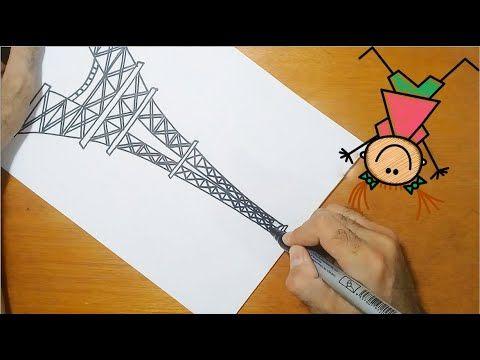 كيفية رسم برج إيفل تعلم رسم برج إيفل بطريقة سهلة Drawing For Kids Drawing Videos Videos Tutorial