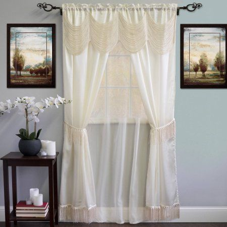Kitchen Curtains 36 inch kitchen curtains : Carlyle Semi-Opaque Stitched Quatrafoil White Kitchen Curtains 24 ...