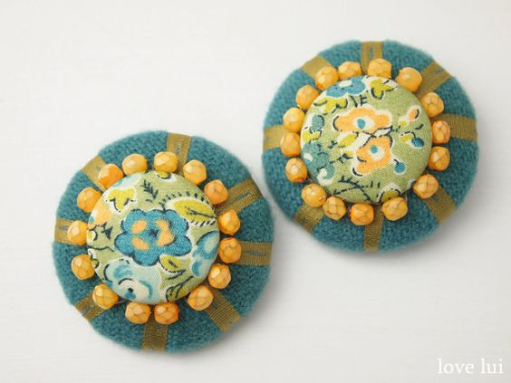 Embellished Liberty buttons