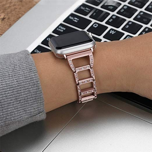 Amazon Com Stainless Steel Bling Bands For Apple Watch Metal