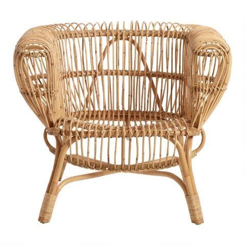 Handwoven Rattan And Kubu Roll Arm Calida Chair Rattan Rolled Arms Rolled Arm Chair