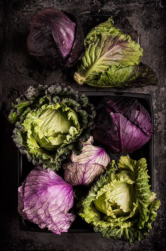 red and red cabbage
