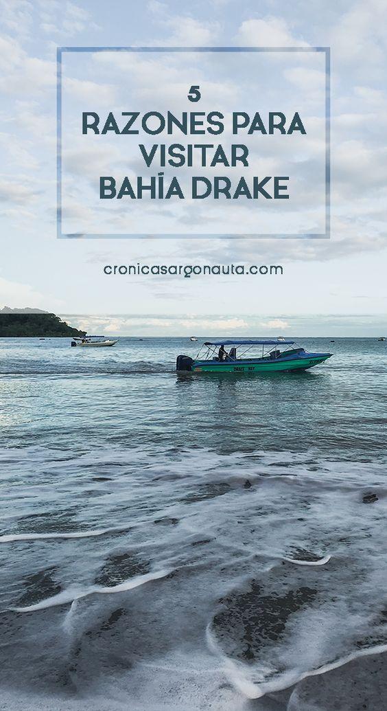 5 buenas razones e info útil para visitar Bahía Drake, en la Península de Osa de Costa Rica.