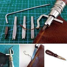 5 En 1 hágalo usted mismo De Cuero Ajustable Costura Groover pliegue Cuero Herramientas Lote Set Kit