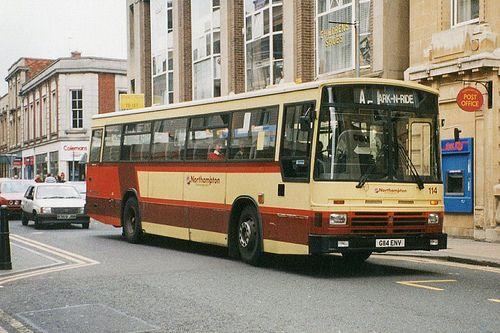 Northampton Transport 114 G114env St Giles Street Transportation Northampton Road Markings