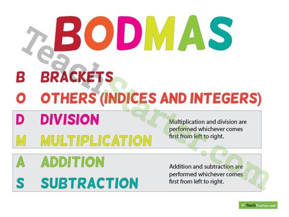 Bidmas homework clip