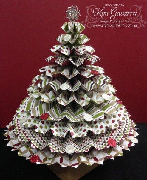 Rosette Christmas Tree 2 Http Www Stampwithkim Com Au Blog P 2507 Stampin Up Pin Christmas Craft Fair Paper Christmas Tree How To Make Christmas Tree