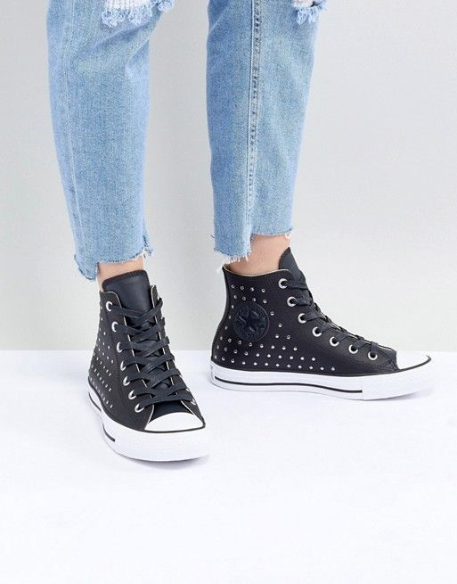 Converse | Converse Chuck Taylor All Star leather studded hi