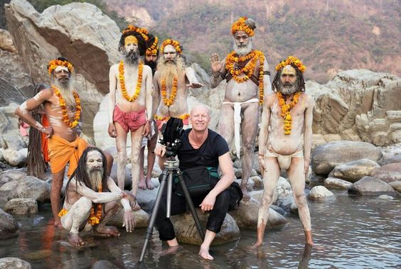 Photographer Jimmy Nelson and Sadhus: