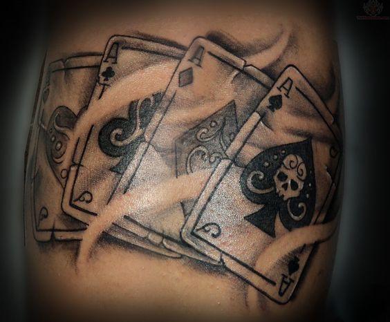 Erkunde asse tattoo tattoo s und noch mehr poker tattoos karten