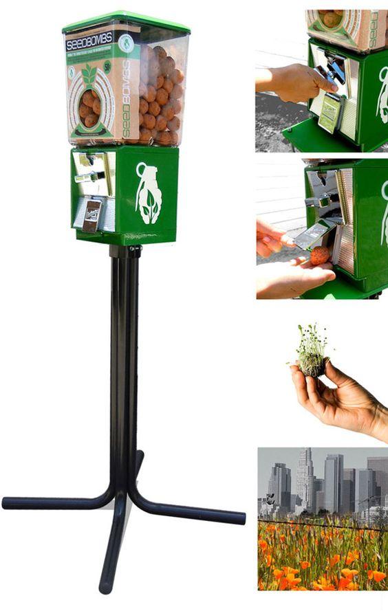 Seedbomb vending machine - throw and grow!
