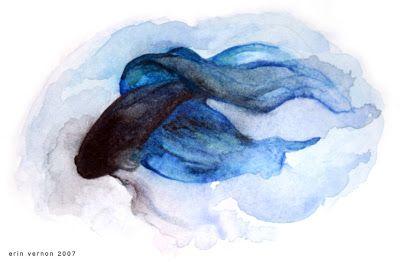 Animals For > Betta Fish Watercolor Tattoo