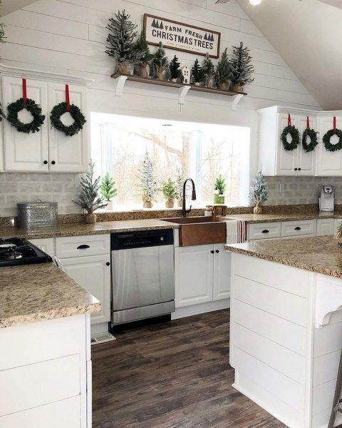 Pinterest Christmas Kitchen Decor Farmhouse Kitchen Decor Kitchen Decor