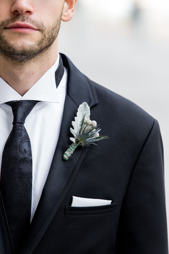 simple boutonniere // Stunning Ronald Reagan Building Wedding in Washington DC | Images by Procopio Photography