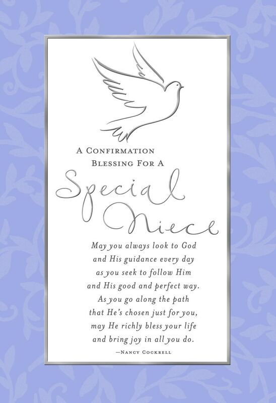 Special Thoughts For Niece Confirmation Card Confirmation Cards Birthday Cards For Niece Christening Thank You Cards