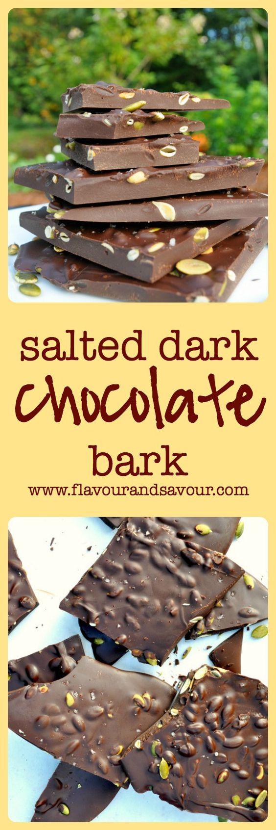 chocolate dark chocolate bark belgian style candy recipe pumpkin seed ...