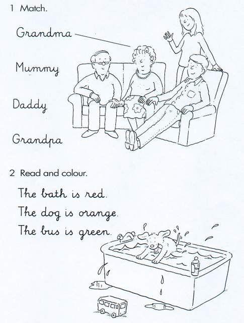 Atividades De Ingles Familia E Cores Atividades De Ingles