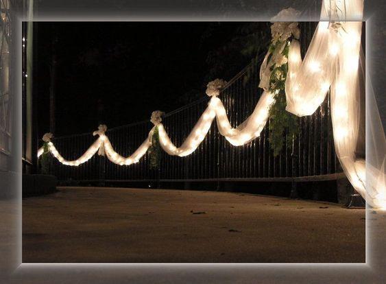 fence with tulle   Wedding   Pinterest   Fences, Wedding and Weddings