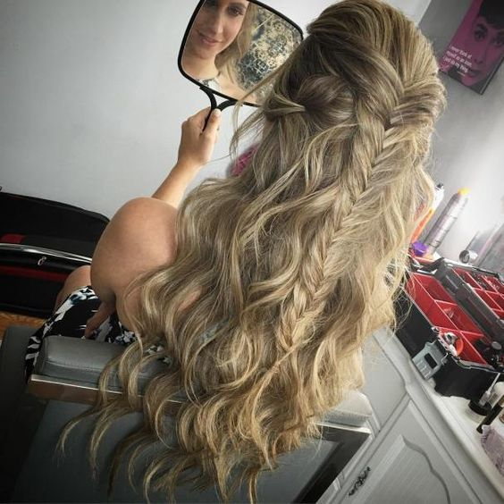 Cute Easy Hairstyles For School Dances : Gorgeous half up down hairstyles jade fishtail