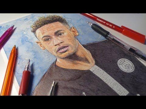 Drawing Neymar Jr Psg Demoose Art Youtube