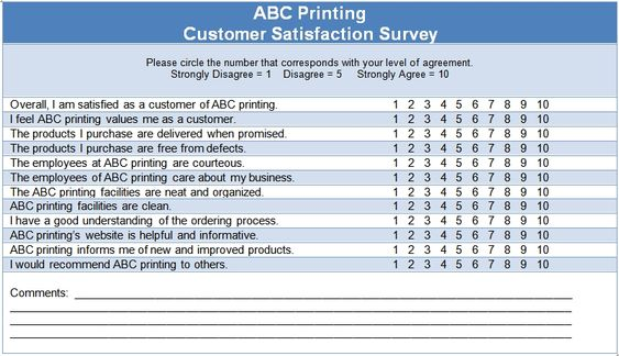 Customer Satisfaction Survey ISO Template Projects to Try - sample customer satisfaction survey