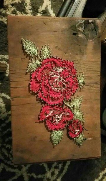 String Art Roses And Art On Pinterest
