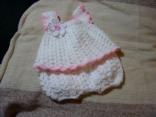 Free Crochet Preemie Baby Dress Patterns : Rompers, Pants and Patterns on Pinterest