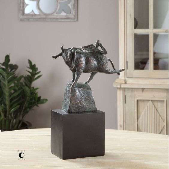 Uttermost Rodeo Times Bronze Figurine