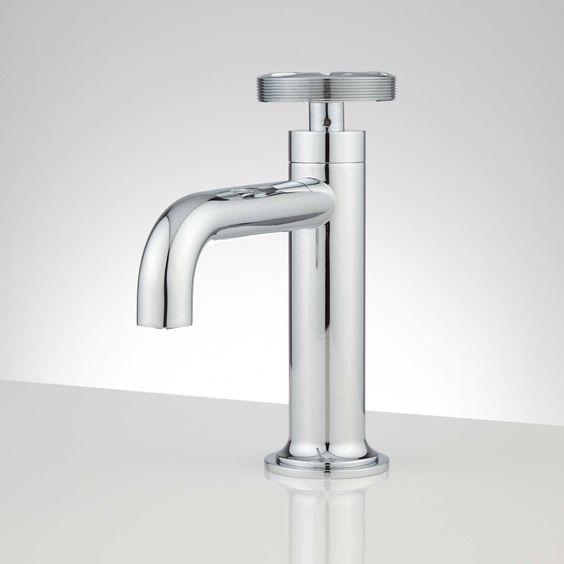 Edison Single Hole Brass Bathroom Faucet With Pop-Up Drain